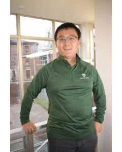 Green Long-Sleeved Performance Pullover with White Logo