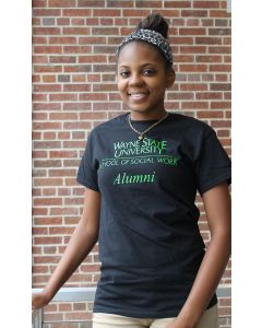 Black T-Shirt with Green Logo