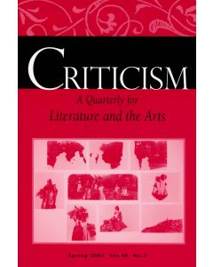 Criticism, Volume 49, Number 2, Spring 2007