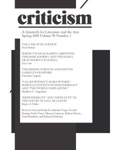 Criticism Volume 50, Number 2, Spring 2008