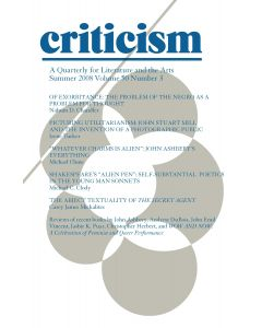 Criticism Volume 50, Number 3, Summer 2008