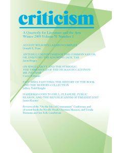 Criticism Volume 51, Number 1, Winter 2009