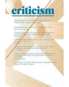 Criticism Volume 52, Number 1, Winter 2010
