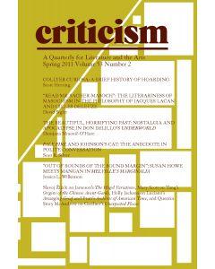 Criticism Volume 53, Number 2, Spring 2011
