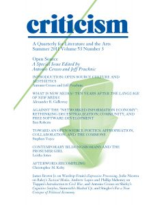 Open Source: A Special Issue Edited by Antonio Ceraso and Jeff Pruchnic