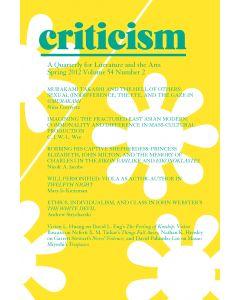 Criticism Volume 54, Number 2, Spring 2012