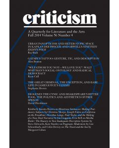 Criticism, Volume 56, Number 4, Fall 2014