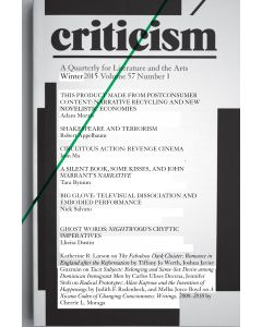Criticism, Volume 57, Number 1, Winter 2015