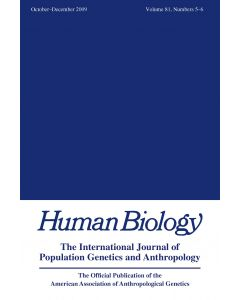Special Issue in Honor of the 80th Anniversary of Human Biology: The Gabriel W. Lasker Award Winners, 1992-2008
