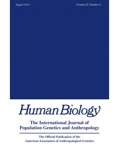 Human Biology Volume 82, Number 4, August 2010