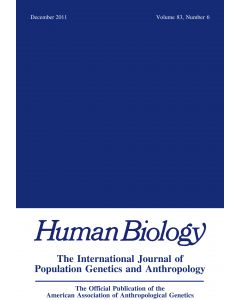 Human Biology Volume 83, Number 6, December 2011