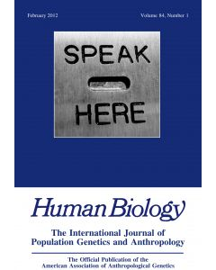 Human Biology Volume 84, Number 1, February 2012