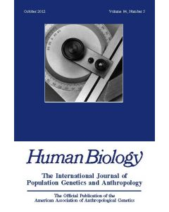 Human Biology Volume 84, Number 5, October 2012