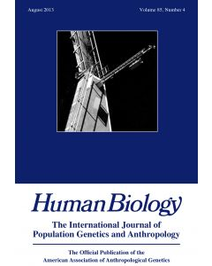 Human Biology Volume 85, Number 4, August 2013