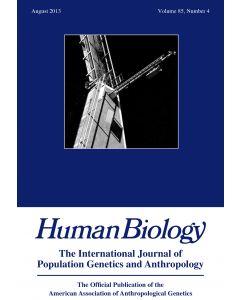 Human Biology Volume 85, Number 4, August 2013