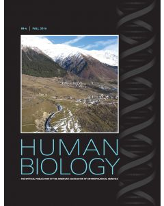 Human Biology Volume 88, Number 4, Fall 2016