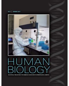 Human Biology Volume 89, Number 2, Spring 2017