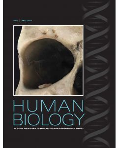 Human Biology Volume 89, Number 4, Fall 2017