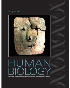 Human Biology Volume 91, Number 4, Fall 2019