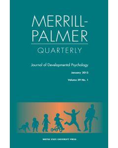 Merrill-Palmer Quarterly Student/Senior Print + Online Subscription