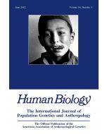 Human Biology Volume 84, Number 3, June 2012