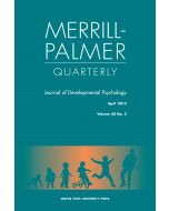 Merrill-Palmer Quarterly Volume 58, Number 2, April 2012